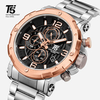 Alta calidad de lujo t5 acero banda hombre diseñador cronógrafo cronógrafo a prueba de agua reloj relojes de pulsera reloj deportivo
