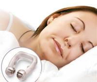 Ronco Cessação Silicone magnética Anti Snore parar ronco clipe nasal sono Bandeja Dormir Aid Apnea Guarda Noite baratos Dispositivo