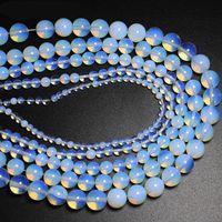 4 6 8 10 12 14 milímetros Opal-pérola solta Semi-preciosas Natural Gemstones Colar DIY Bracelet Jóias Acessórios