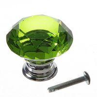 25мм алмазный хрусталь стеклянные дверные ручки ящика корпусная мебель ручка ручка винт мебельная фурнитура