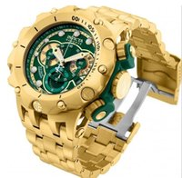 Top quality swiss cosc original INVICTA 18k gold Chronograph...