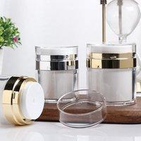 15g 30g 50g Leere Acryl Cremetiegel Dosen Pot Top Press Stil Vakuumflasche Probenfläschchen Airless Cosmetic Container F2317