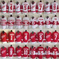Detroit 4 Gordie Howe Ice Jersey 1 Terry Sawchuk 7 Ted Lindsay Red Wings 9 Gordie Howe 5 Nicklas Lidstrom 10 Alex Delvecchio Vintage Classic