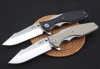 ZT Dossier Tolérance zéro 0393 ZT0393 9Cr18MoV roulement à billes de haute qualité ZT de chasse de camping de couteau pliant Adru