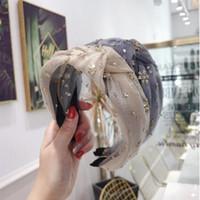 البوهيمي الذهب بريق معقود هيرباند العقدة عقال الشعر اكسسوارات الشعر مجوهرات GB1046