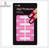 ELECOOL 10pcs Kreative U-Form Form Guide Aufkleber spritzwassergeschützte Finger Abdeckung Nagellack-Lack-Schutz-Aufkleber-Maniküre-Werkzeug