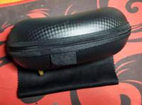 블랙 옥스포드 EVA 지퍼 상자 안경 헝겊 브랜드 선글라스 상자 케이스 패키지 무료 Shippng Moq = 10 도매