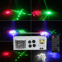 4 in 1 LED Laser Bühnenbeleuchtung DMX 512 LED Strahl Licht DJ Disco Party Lights RG Laser Gobos Gemischter Strobe Par Leuchtet für Feiertag Weihnachtsfeier