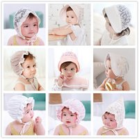 Capuchon de pneu de bébé cool Summer Baby Beanie Child Tie Lace Cool Baby Years Old Palais Princess Hat 33 styles