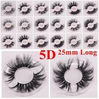 25 mm vison cils cils 5j de vison 3D long et épais Mink Lashes le maquillage des yeux 15 styles maquillage