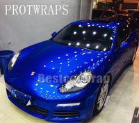 Blue Gloss Candy Metallic Vinyl Wrap Wrap Wrap Wrap Covering con bolla d'aria GRAMO GRAMO GRANUE INTIMA INIZIALE 3M Qualità 1.52x20m / rotolo (5x65ft