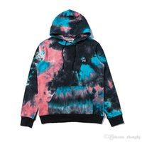 2019 Otoño Nuevo Adolescente Tie Dyed Gradient Pullover Sweater Casual Casual Thin Sport Hip Hop Sweater