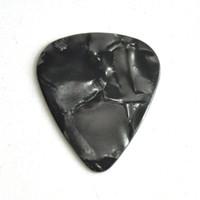 Много 100 шт тяжелый 0.96 мм пустой гитара выборка Плектры Целлулоид жемчуг черный без печати