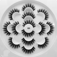 3D 밍크 속눈썹 자연 속눈썹 긴 속눈썹 연장 가짜 가짜 눈 속눈썹 화장품 메이크업 도구 7 쌍 / 세트 RRA1113