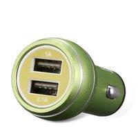 Cargador de coche universal con doble puerto USB de 5V 2A mini cargador de carga rápida para el teléfono móvil del teléfono inteligente Huawei Samsung