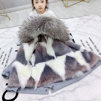Sundae Angelo ragazze Cappotto incappucciato Faux Fur addensare Warm rivestimento dei bambini per il ragazzo Parka abbigliamento per bambini 2-9 anni Outerwear