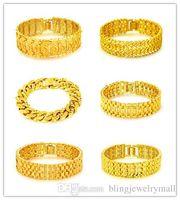 Mutil Choice! New Collection Punk Man Gold Color Bracelets & Bangles For Wedding Copper Metal Jewelry Luxury Bracelet Gift Part KS988-KS995