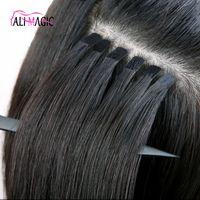 Neueste Invisible Remy Klebeband In Haarverlängerungen Skin Weft Band-Haar-Verlängerungen Zurück Braun Blond 100g Virign brasilianische indische Haar