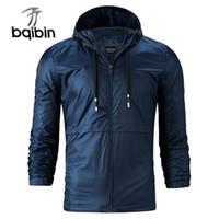 Men's Jackets 2021 Spring Autumn Hoodie Zipper Coats Males Sportswear Windbreaker Mens Outerwear Man Casual 4XL Plus