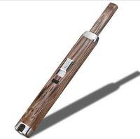 USB-elektronische Küchenanzünder 10 Farben elektrisch wiederaufladbare winddichte Metall Langbogen Zigarettenzündungsländer Power Display Sale