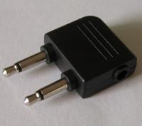 Aereo da aereo per auricolari Adattatore auricolare Adattatori Jack incassato- Dual Mono 3.5mm a 3.5mm Stereo Audio Plug NAVE VELOCE