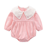 Spring and Autumn Baby Clothes One- piece Lovely Laisse Hat S...