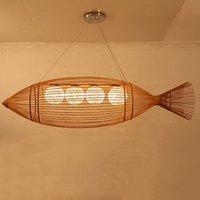 Pendentif en bambou Pendentif lampes à tisser en bambou à la main Pendentif lampe suspendue lampe de suspension Accueil Suspension en bois Suspension rustique Foyer PA0552