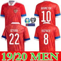 새로운 2019 년 2020 년 러시아 축구 유니폼 (10) 아르샤빈 MIRANCHUK 18 지르 코프 (21) 에로 킨 (23) KOMBAROV SMOLOV 남자 축구 셔츠