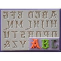 Yueyue Sugarcraft 1 قطعة كابيتال / رسالة / عدد سيليكون قالب فندان قالب الكعكة أدوات تزيين الشوكولاته gumpaste