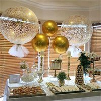 36 Inches Sequins Latex Balloons With Tassel Inflatable Clear Party Confetti Balloon Fit Wedding Birthday Christmas Decoration 4 28yr E1
