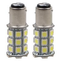 10PCS 1157 BAY15D P21 / 5W 5050 27-SMD الفرامل الذيل وقف LED ضوء لمبات 7528 2057 12V الذيل بدوره إشارة ضوء bulb12V
