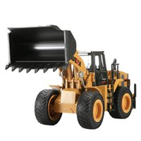 HN Diecast Трактор лопата сплава модель игрушки, колесный погрузчик, 1: 40 большой размер инженерных грузовиков, орнамент для рождественских подарков на День рождения малыша, сбор