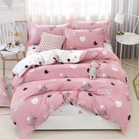 Cute Cat 4pcs del ragazzo della ragazza Kid Bed Cover Set copripiumino Adulto Bambino lenzuola e federe Comforter Bedding 2TJ-61009