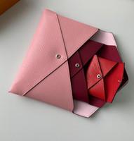 3 peças titulares Set mulher embreagem cartão Longo Carteiras Purse Passaporte Bolsas moda para senhora vindo com caixa e saco de pó