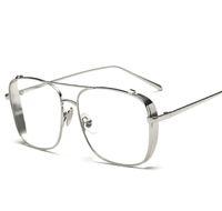 2020 الرجال صخرة المصمم المعدني luxtury الفضة الذهب إطار واضح نظارات شمسية للرجال النساء الأشعة فوق البنفسجية 400 حماية نظارات الشمس