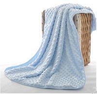 Mantas de bebé Minky burbuja punto Mantas Envolver celular algodón guisantes suaves mantas de espuma Las alfombras del saco de dormir sólido D738 edredón del lecho