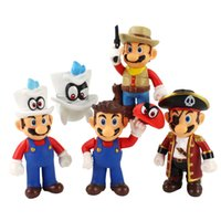 5 stili Super Mario Bro Odyssey Cappy Action Figure Toy Dolls Super Mario Figure Giocattoli regali per i bambini