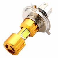 2 Pcs H4 18W lâmpada LED 3 COB DC 12V Branco Motocicleta da lâmpada do farol 2000LM 6500K Hi / Lo feixe de alta potência Super Brilhante