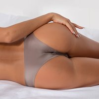 Women Sexy Seamless Panties Briefs Nylon Ultra-thin G-string Thongs Low Rise Lingerie Ice Silk Briefs Lady Underwear Wholesale