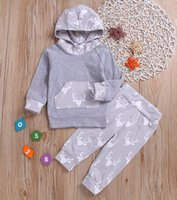 xmas 2019 Newborn Infant Baby Boys Grey Deer Pocket Hoody Sw...