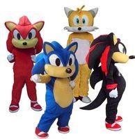 2019 hochwertige sonic und meilen tails maskottchen kostüm phantasie party dress karneval