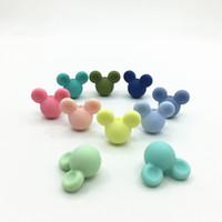 50pcs Nuovi perline in silicone perline perline perline di grado di cassaforte che cammino a masticare fai da te lotto di braccialetto del fumetto per il bambino