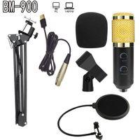 alta qualità nuova BM-900 microfono Podcast di registrazione con supporto professionale a condensatore Studio Broadcasting microfono a condensatore microfono