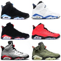 Nike Air Jordan Retro 6 Novo Luxo Basketball Shoes Jumpman 6 6s OG Womens Mens Travis scotts cacto amarelo jack Washed Denim Preto Infrared Designer Sports Sneaker