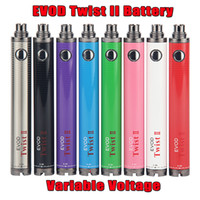 1600mAh evod twist ii 2 vv tension variable 3.2v-4.8v pile stylo vape 510 ego filetage pour mt3 emow méga atomiseur kit