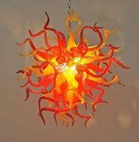 훌륭한 날아간 무라노 유리 라이트 펑키 펜던트 램프 어두운 앰버 샹들리에 터키 천장 램프를 매달려 현대 샹들리에