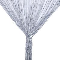 2 x 1 m de cuerda Cortinas los granos del cristal de la borla de cadena Cortinas puerta de la ventana Panel de cortinas cenefa para la sala de estar Decoración Cortina