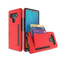 Для LG K51 Случай 2 в 1 ТПУ PC Slide Кредитные карты многофункциональные мобильные телефоны, аксессуары для LG Stylo 6 Телефон случае B