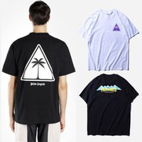 New Palm Angels Tee Uomo Donna Fashion Palm Graphic Stampa T-Shirt in cotone Manica corta Casual Tees Nero Bianco CLI0303