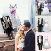 Decoração do partido Engagemen noiva eo noivo vestido de noiva de alumínio casamento balão